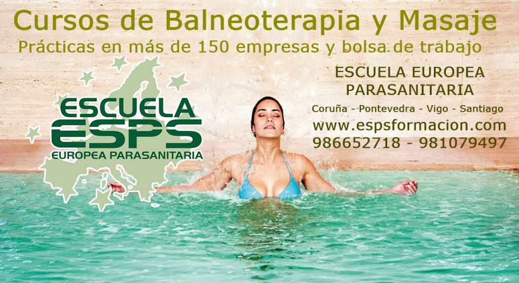 cursos de masaje y balneoterapia